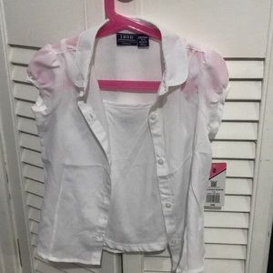 NWT Uniform White Blouse with Cami